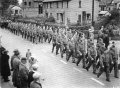 Home Guard marching up Main Street c1941