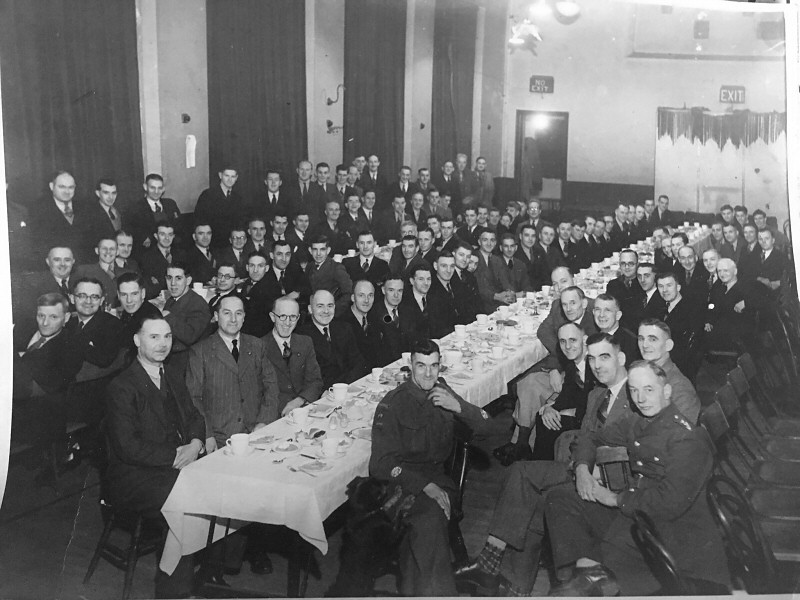 Victory Celebration Dinner Sutton Home Guard Sutton Village Hall c1946.