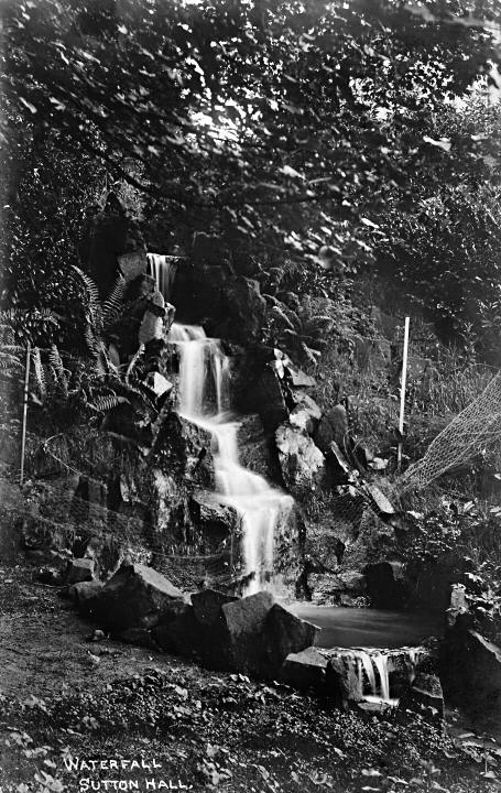 Waterfall, Sutton Hall c1913.
