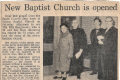 Baptist Church Opening 1971